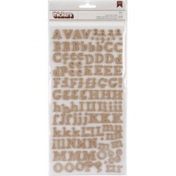 Eric - Burlap - DIY Thickers Alphabet Stickers 6 inches X11 inches  Sheets 2/Pkg