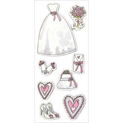 Beautiful Bride - Homemade Glitter Stickers 3