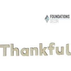 Thankful Word Only - Foundations Decor found on Bargain Bro India from A Cherry On Top Crafts for $3.99