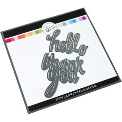 Simple Greetings Dies (Hello/Thank You) - Catherine Pooler found on Bargain Bro India from A Cherry On Top Crafts for $8.95