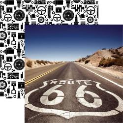 Route 66 Paper - Classic Cars - Reminisce