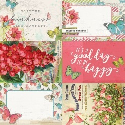 4x6 Elements Paper - Simple Vintage Botanicals - Simple Stories