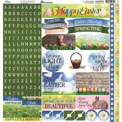 Springtime Alpha Stickers - Reminisce
