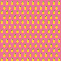 Pineapple Crush Patterned Single-Sided Paper - American Crafts