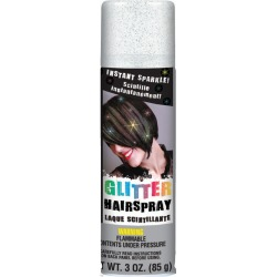 Silver - Glitter Hair Spray 3oz