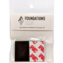 Foundations Decor Self-Adhesive Magnets 10/Pkg found on Bargain Bro India from A Cherry On Top Crafts for $1.79