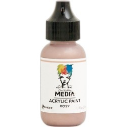 Rosy - Dina Wakley Media Heavy Body Metallic Acrylic Paint 1oz