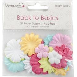Back To Basics Bright Spark Paper Blossoms-