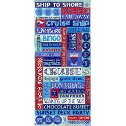 Cruise Words Glitter Stickers - Sandylion