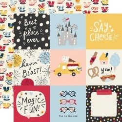 4 x 4 Elements Paper - Say Cheese Main Street - Simple Stories - PRE ORDER found on Bargain Bro India from A Cherry On Top Crafts for $0.99