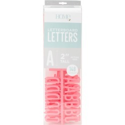 "Coral - DCWV Letterboard Letters & Characters 2"" 148/Pkg"