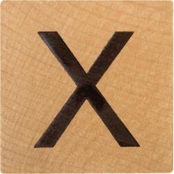 X Wood Alphabet Tile - 2 Inch