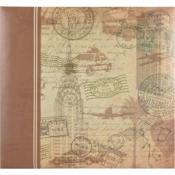 "MBI Postmark Travel Post Bound Album 12""x12"""