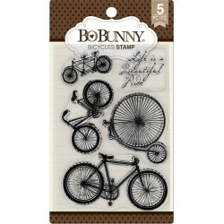 Bicycles Stamp - Bo Bunny found on Bargain Bro India from A Cherry On Top Crafts for $5.99