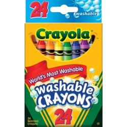 Crayola Washable Crayons, 24/Pkg -
