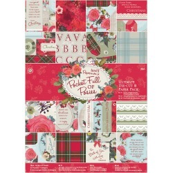 Pocket Full Of Posies - Papermania Ultimate A4 Die-Cuts & Paper Pack 48/Pkg