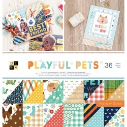 Playful Pets DCWV Double-Sided Cardstock Stack