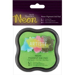 Green - Papermania Neon Pigment Ink Pad found on Bargain Bro India from A Cherry On Top Crafts for $2.99