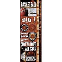 Basketball Combo Die Cut Stickers - Real Sports  - Reminisce