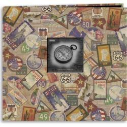 "Travel Stickers - Travel Post Bound Album 12""X12"""