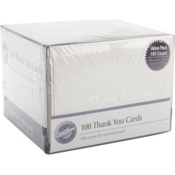Thank You Cards & Envelopes 100/Pkg