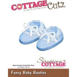 Fancy Baby Booties Metal Die Cottage Cutz