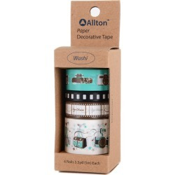 Photograph - Decorative Washi Tape Assorted Widths 5m 4/Pkg found on Bargain Bro India from A Cherry On Top Crafts for $5.99