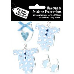 Blue Baby Gowns Booties Express Yourself MIP 3 D Stickers