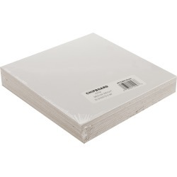 White - Medium Weight Chipboard Sheets 6 inches X6 inches  25/Pkg