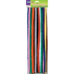 """Assorted Colors - Colossal Stems 15mm X 19.5"""" 50/Pkg"""