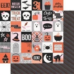 2 x 2 Elements Paper - Happy Haunting - Simple Stories