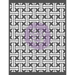 Basket Weave - Prima Re-Design Decor Stencil 22 inches X28 inches found on Bargain Bro from A Cherry On Top Crafts for USD $22.79