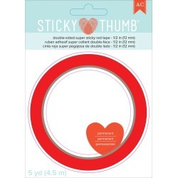 Sticky Thumb Double-Sided Super Sticky Red Tape - American Crafts