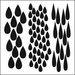 Rain 6 x 6 Stencil - Crafters Workshop found on Bargain Bro India from A Cherry On Top Crafts for $5.79