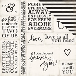 Loving Words - Wedding Bliss  Paper - Echo Park