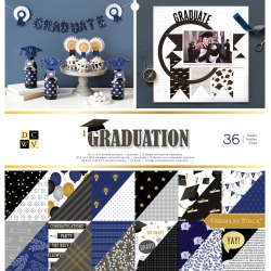 Graduation DCWV Double-Sided Cardstock Stack