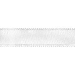 "White - Single Face Satin Ribbon 1-1/2""X12'"