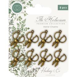 Brass Herb Scissors Metal Charms - Craft Consortium