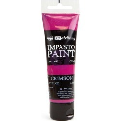 Crimson Impasto Paint - Art Alchemy - Prima found on Bargain Bro India from A Cherry On Top Crafts for $6.99