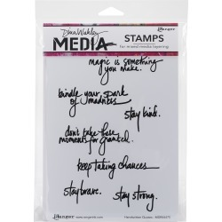 Handwritten Quotes - Dina Wakley Media Cling Stamps found on Bargain Bro India from A Cherry On Top Crafts for $19.99