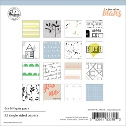 6 X 6 Paper Collection Pack - A Case Of The Blahs - Pinkfresh