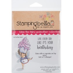 Edna With A Cupcake On Top - Stamping Bella Cling Stamp 6.5 inches X4.5 inches