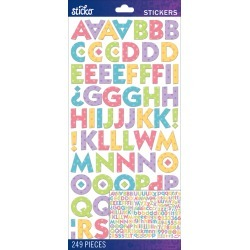 Bright Dots Kable Medium - Sticko Alphabet Stickers found on Bargain Bro from A Cherry On Top Crafts for USD $1.66