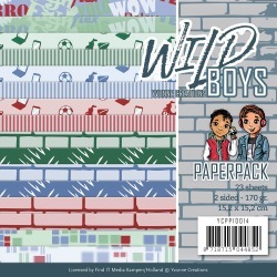 """Wild Boys - Find It Trading Yvonne Creations Paper Pack 6""""X6"""" 23/Pkg"""