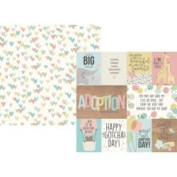3x4 & 4x6 Elements Paper - Oh Baby! Adoption - Simple Stories