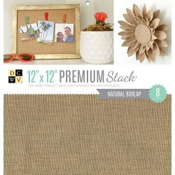 Natural Burlap - DCWV Single-Sided Specialty Stack 12