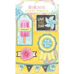 Layered Chipboard Stickers - Summer Mood - Bo Bunny found on Bargain Bro India from A Cherry On Top Crafts for $4.99