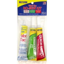 Fabri-Tac Sewing Kit W/Adhesive 1oz 3/Pkg