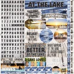 "Lake Life Alpha Stickers 12""X12"""