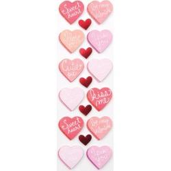 Handmade Valentine Candy Heart Stickers - Martha Stewart Crafts